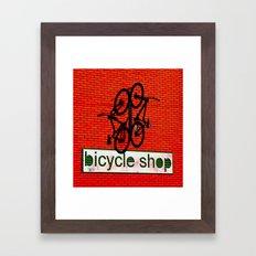 Bicycle Shop Framed Art Print