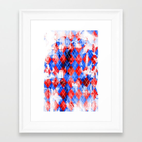 Urban Argyle Framed Art Print