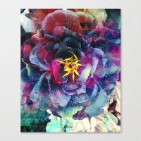 Purple Flower - Boho Canvas Print