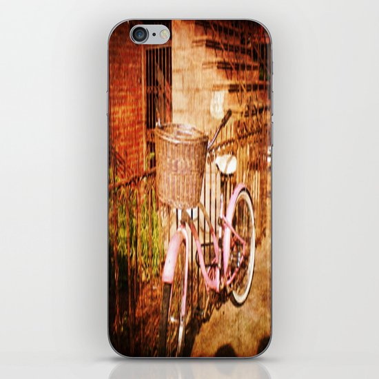 pink bike iPhone & iPod Skin