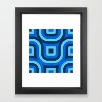 Blue Truchet Pattern Framed Art Print