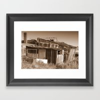 Tin Shed Framed Art Print