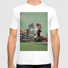 3046 Mens Fitted Tee White SMALL