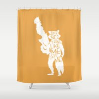What's a Raccoon? Shower Curtain