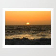 California Sunset Art Print