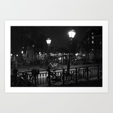 Amsterdam by Night Art Print