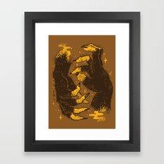 Monster Hands Framed Art Print