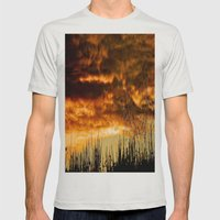 When Storm & Sunset Meet Mens Fitted Tee Silver SMALL