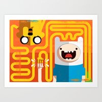 Finn & Jake - PopGeometry #4 Art Print