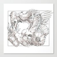 Birds/Silence Canvas Print