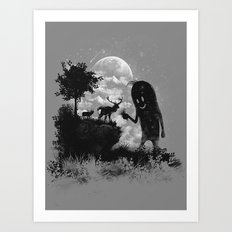 The Friendly Visitor Art Print