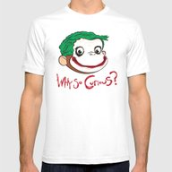 Why So Curious? Mens Fitted Tee White SMALL