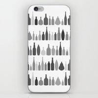 Bottles Black and White on White iPhone & iPod Skin