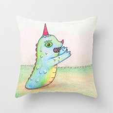 Wormrah the 'giant' monster. Throw Pillow