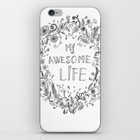 Awesome life iPhone & iPod Skin