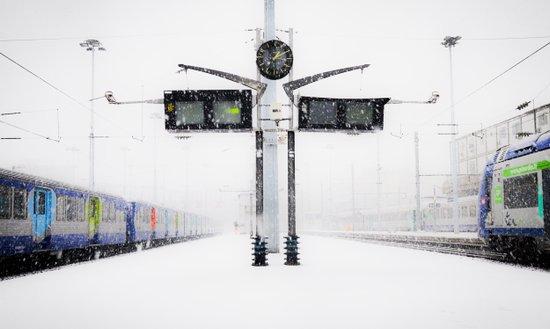blizzard in Paris Canvas Print