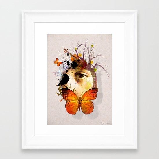 fluttery abstract   Framed Art Print