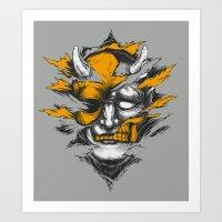 Devil Beside You Art Print
