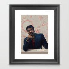 Neil Degrasse Tyson Portrait Framed Art Print