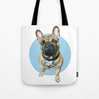 French Bulldog Blue Spot… Tote Bag