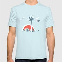 No way ! Mens Fitted Tee Light Blue SMALL
