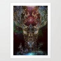 DeerTree - Medicina Cosmic Shoko Art Print