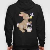 Brown Bunny and Basket Hoody