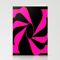 Abstract. Pink+Black Dot. Stationery Cards