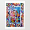 Abstract Steam Punk Music Collage Art Print