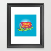 The World has Cooties Framed Art Print