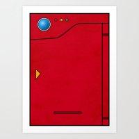 Dexter the Pokedex - Minimalism Pokemon Poster Art Print