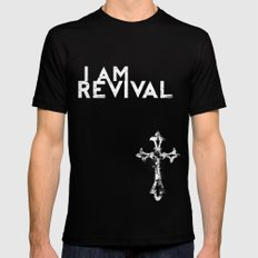 I Am Revival Black SMALL Mens Fitted Tee