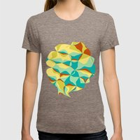 Imperfect Tiles Womens Fitted Tee Tri-Coffee SMALL