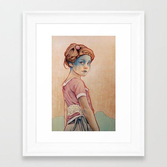 Within White Framed Art Print