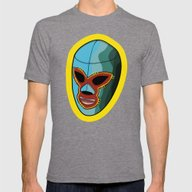 Mask Mens Fitted Tee Tri-Grey SMALL