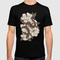 Snake and Magnolias SMALL Black Mens Fitted Tee