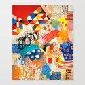 Wallpaper and Diamonds Part I Canvas Print