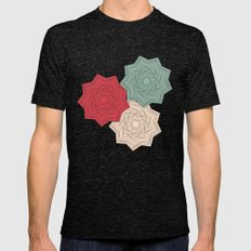 Flowers Mens Fitted Tee Tri-Black SMALL