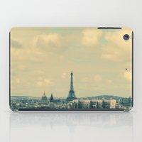 Paris In Blue iPad Case