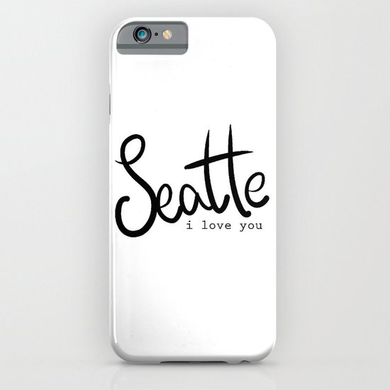 Seattle i love you  iPhone & iPod Case