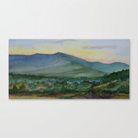 Mt. Mansfield at Dusk Canvas Print