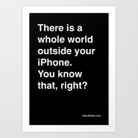 There Is A Whole World O… Art Print