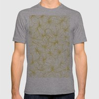 Golden Doodle Floral Mens Fitted Tee Athletic Grey SMALL