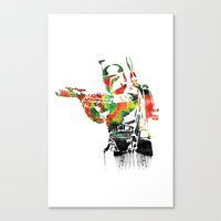 Boba Fett Print Canvas Print
