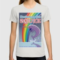 Embrace The Squee! Womens Fitted Tee Silver SMALL