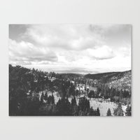 Mountains and Desert view Canvas Print