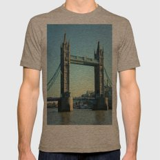 Tower Bridge Mens Fitted Tee Tri-Coffee SMALL