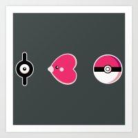 I Luv(disc) Pokémon Art Print