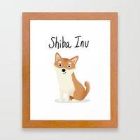 Shiba Inu - Cute Dog Ser… Framed Art Print