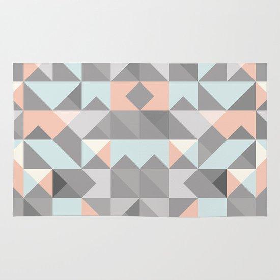 Triangular Pattern Area & Throw Rug
